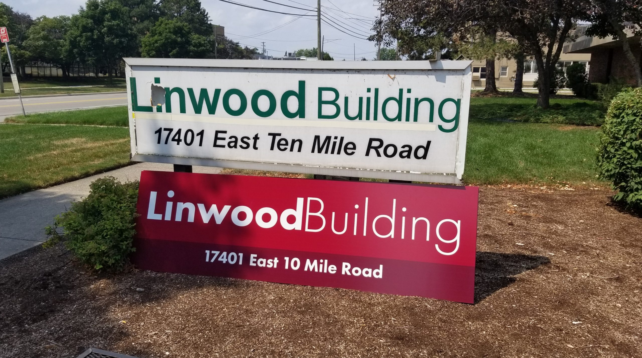 Linwood Building - Sign - Before
