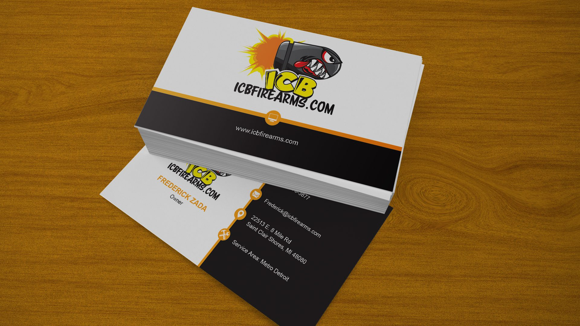 ICB Firearms - Business Cards Mockup 01