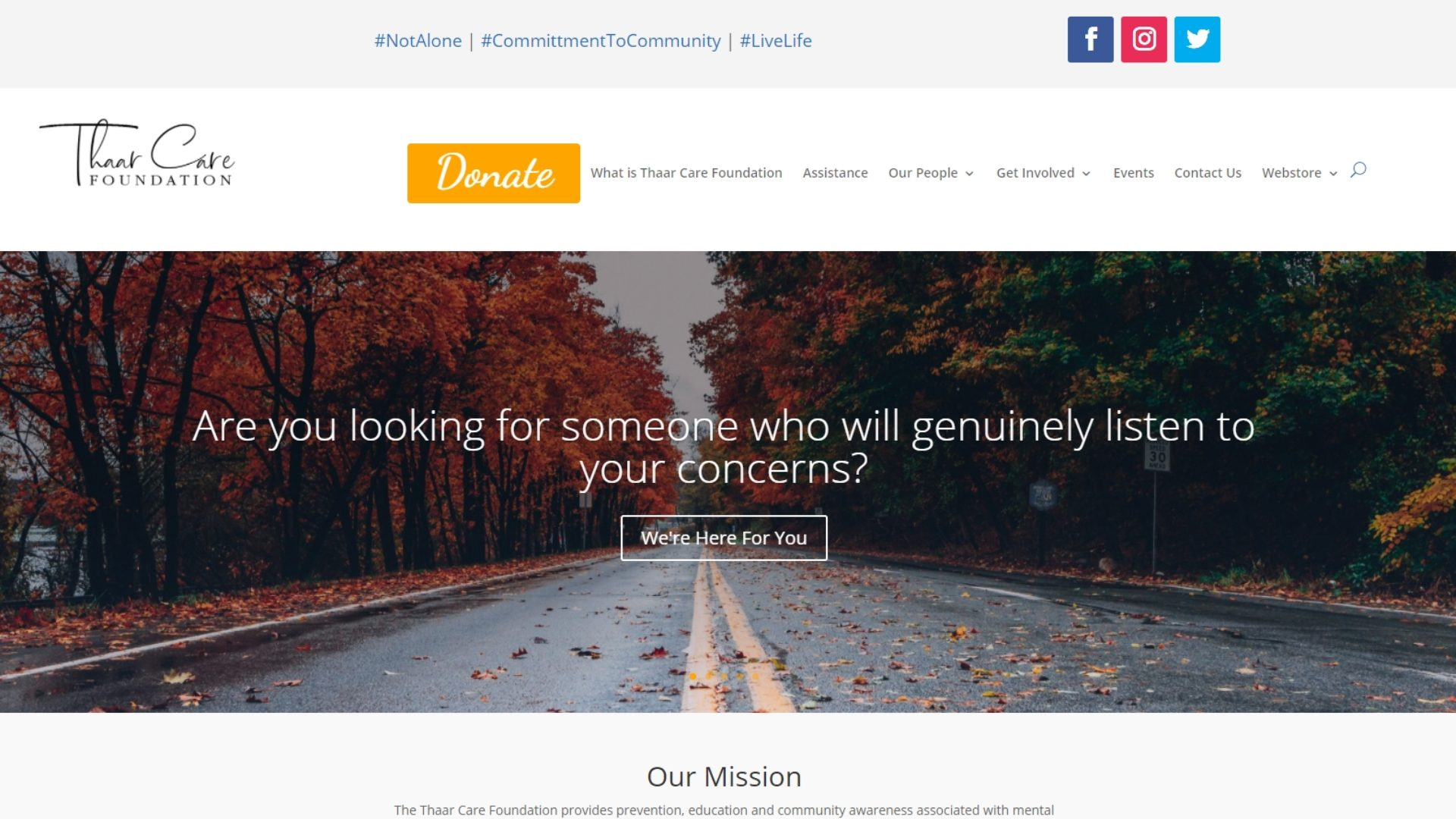 Thaar Care Foundation Inc. - Home Page