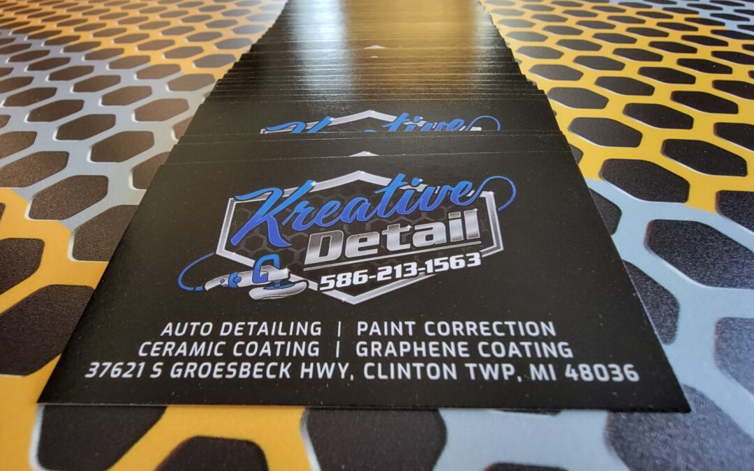 Auto Detailing Appointment Cards