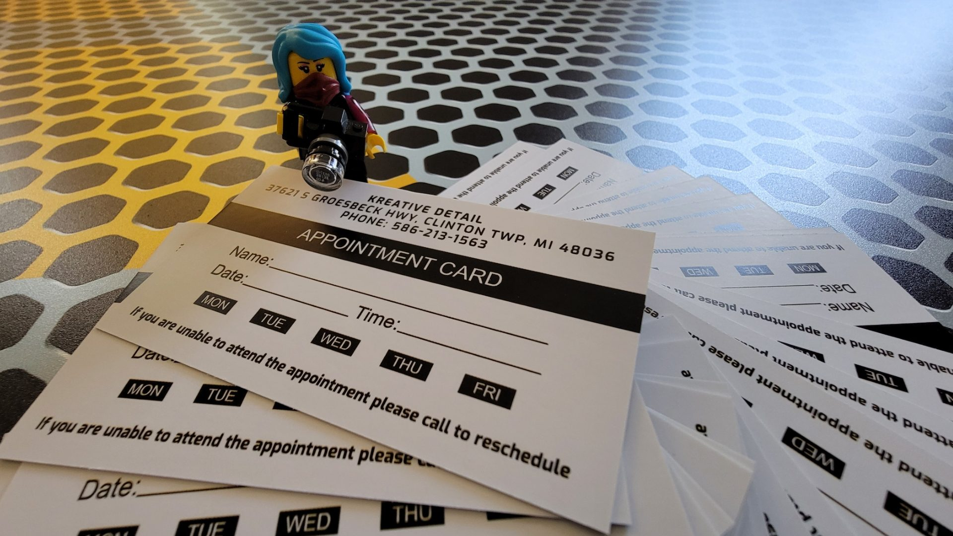 Auto Detailing Appointment Cards 7