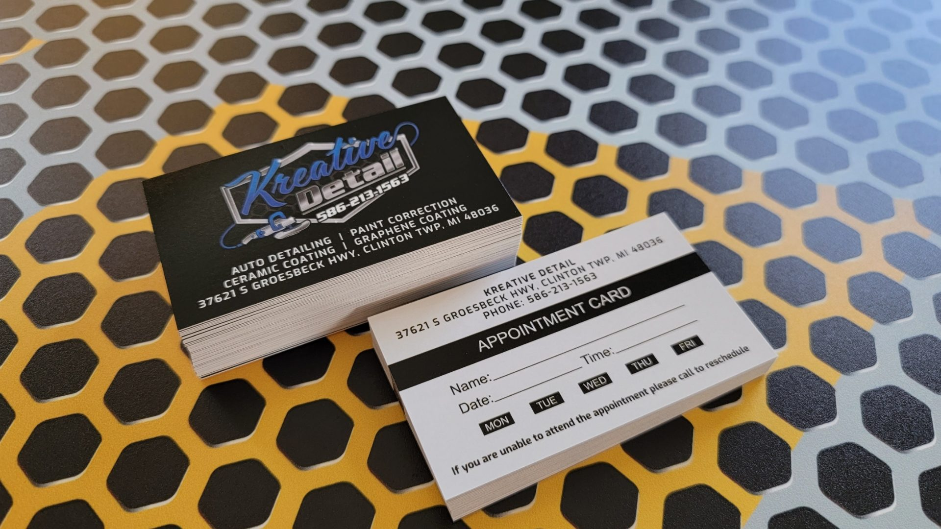 Auto Detailing Appointment Cards 8